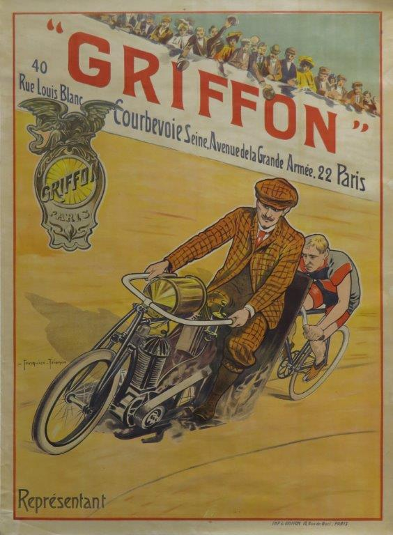 Griffon ca 1904 original lithographic poster
