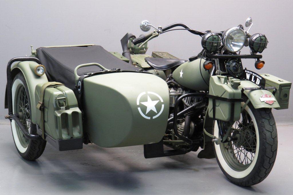 Harley Davidson: Harley Davidson 1942 WLA 750cc 2 Cyl Sv
