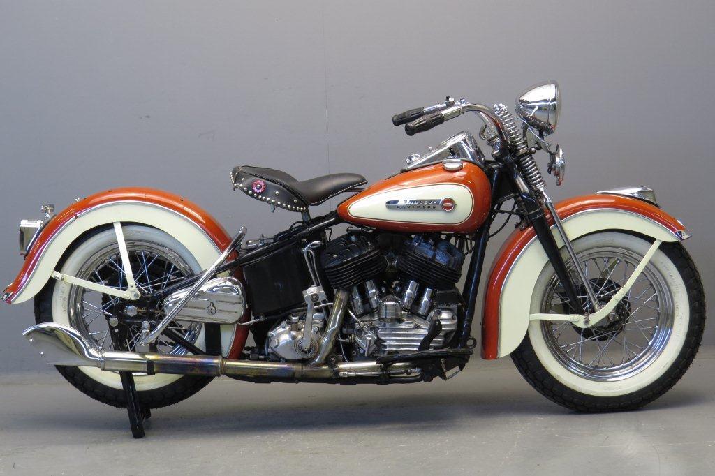 Harley Davidson 1947 model 47U 1200cc 2 cyl sv - Yesterdays