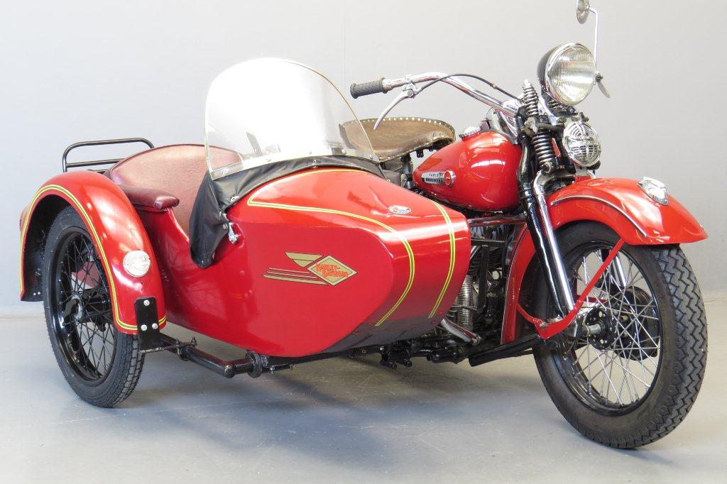 Harley Davidson 1950 WLH Hollandia combination 750cc 2 cyl