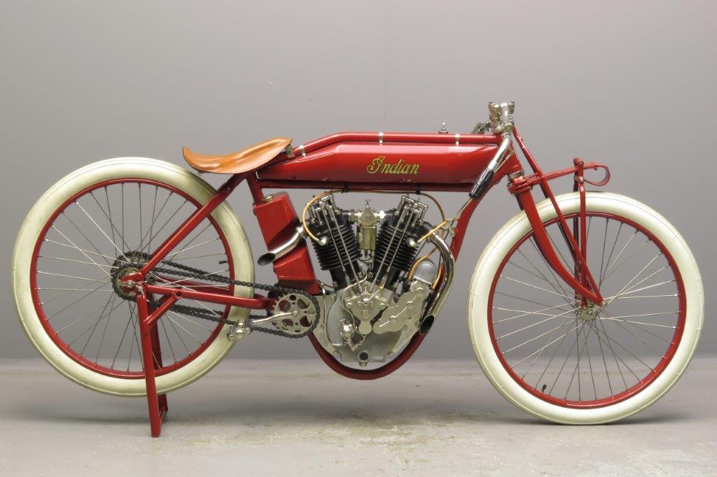 Indian 1913 8 valve boardtrack racer