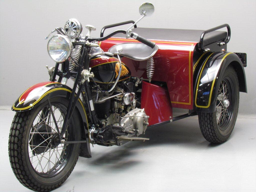 Indian 1939 Dispatch Tow 750cc 2 Cyl Sv Yesterdays