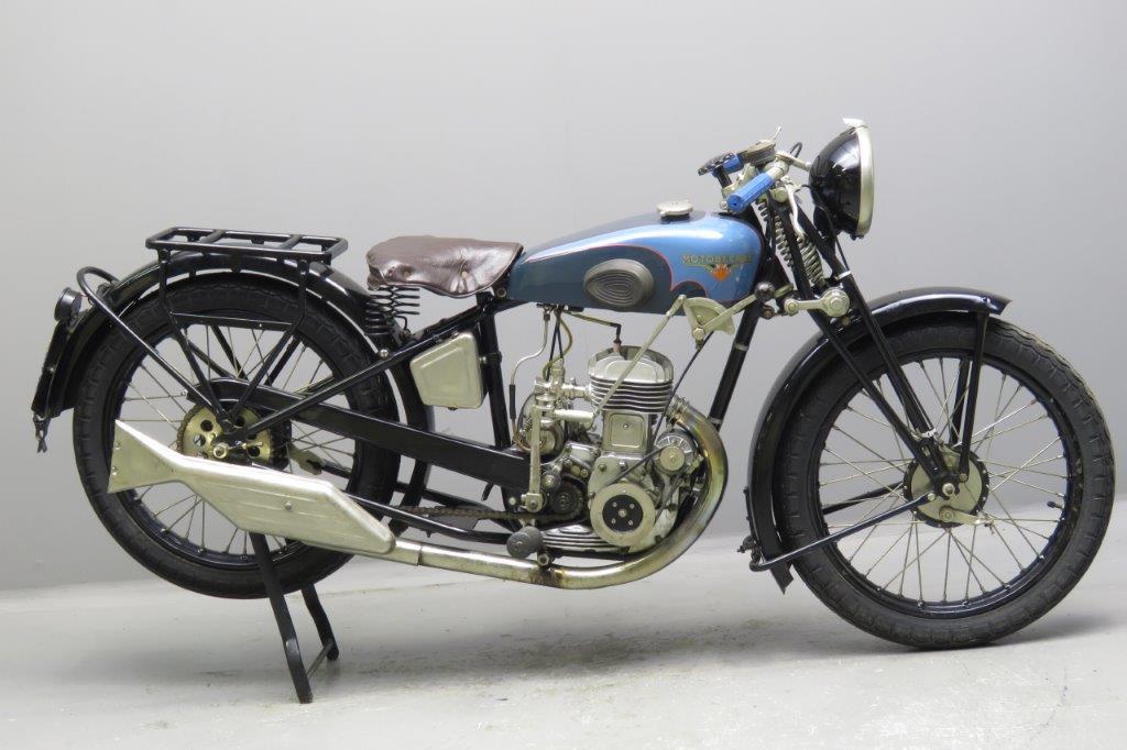 Motobecane 1933 Model B33A 250cc 1 cyl sv  2612