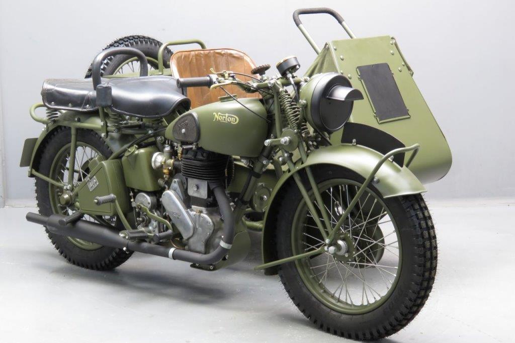 Norton 1941 Big-Four 633cc with shaft driven sidecar