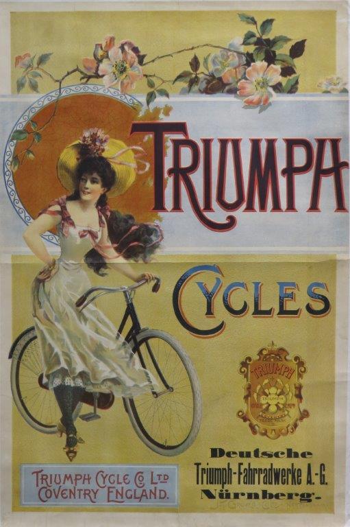 Triumph ca 1900 original lithographic poster