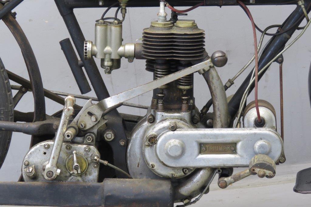 triumph 1916 model h 549cc 1 cyl sv 2607 - yesterdays