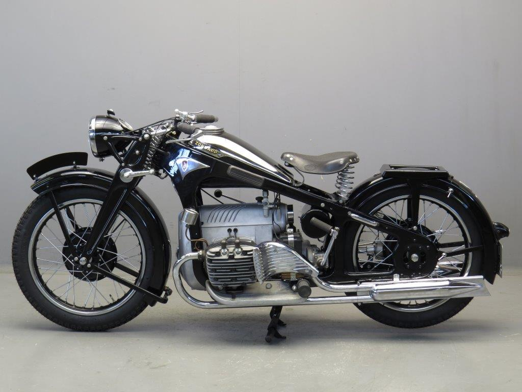 Zundapp K on Four Cylinder Motorcycle