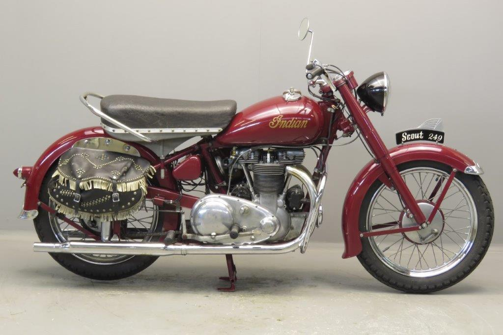 Indian 1950 Scout 250  440cc 2 cyl ohv  2706