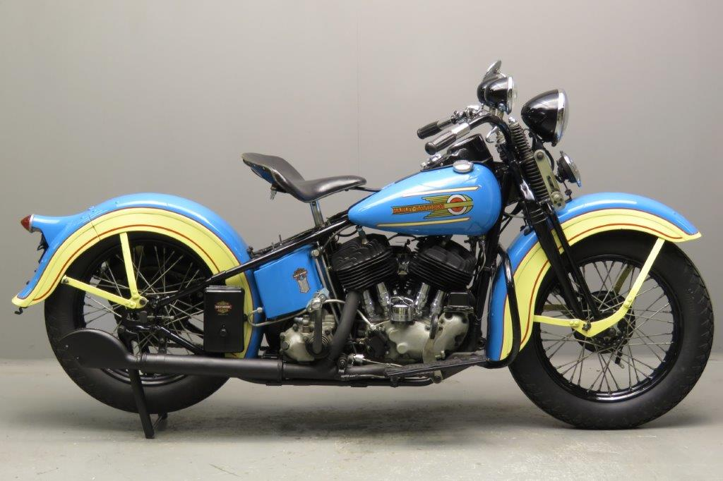 Harley Davidson 1937 ULH 1340cc 2 cyl sv   2711