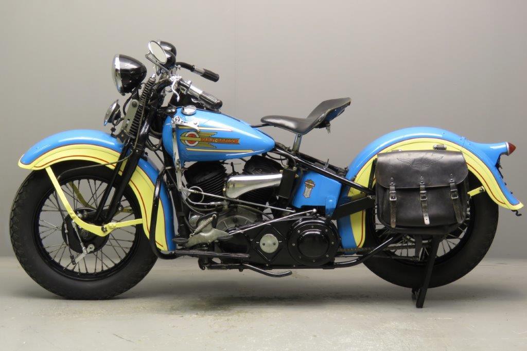 Harley Davidson 1937 ULH 1340cc 2 cyl sv 2711 - Yesterdays