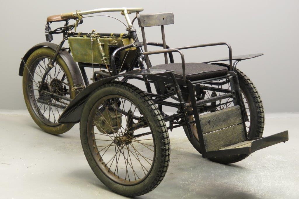Bruneau 1907 tricycle 326cc 1 cyl aiv  2803