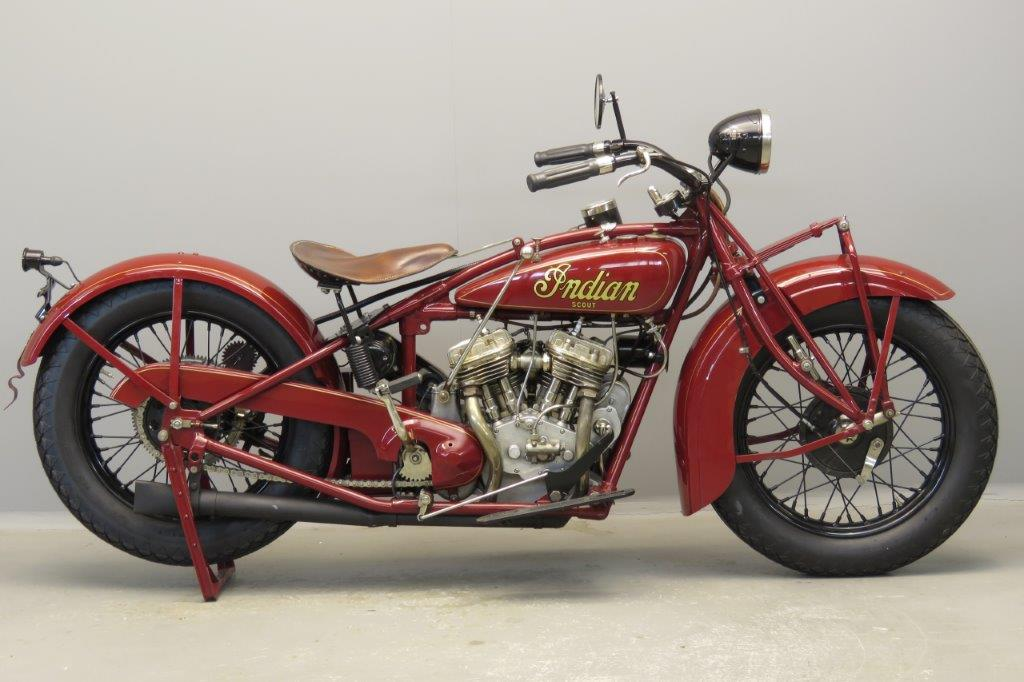 Indian 1929 101 Scout 750 cc 2 cyl sv  2803