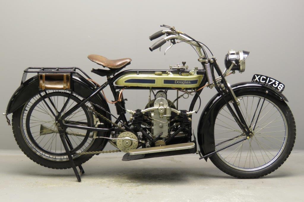 Douglas 1921 Model 21W 2¾hp 350cc 2 cyl sv  2804
