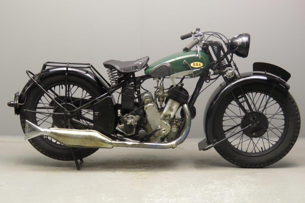 BSA 1930 S30 500cc 1 cyl sv  2807