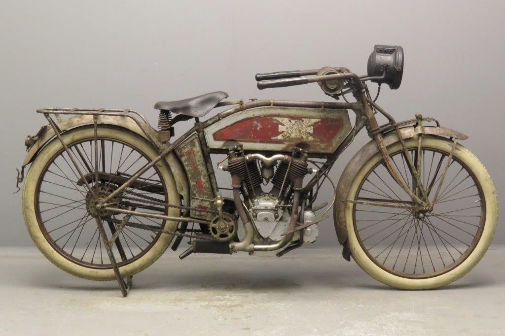 Excelsior 1914 model 7C 1000cc 2 cyl ioe  2809