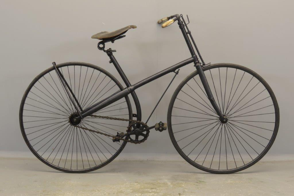 Safety Cross-frame bicycle ca 1887  2809