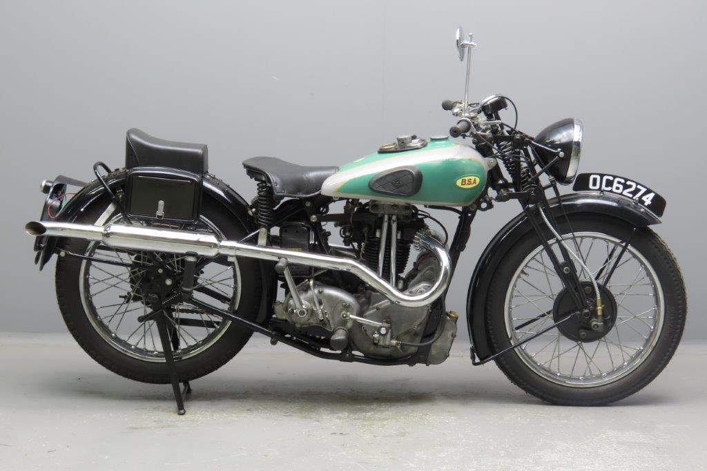 BSA 1933 Blue Star  348cc 1 cyl ohv  2902