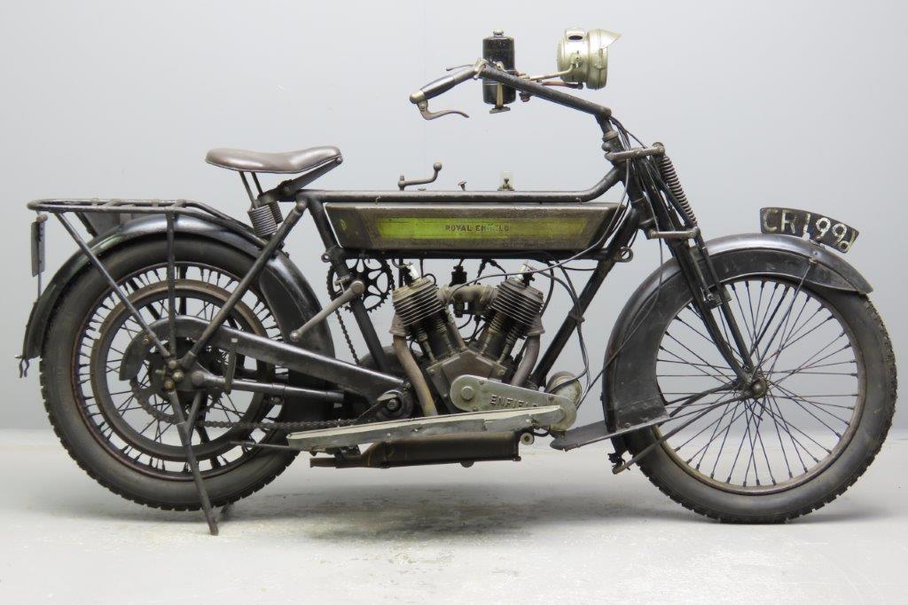 Royal Enfield 1914 6hp  770cc 2 cyl sv  2902