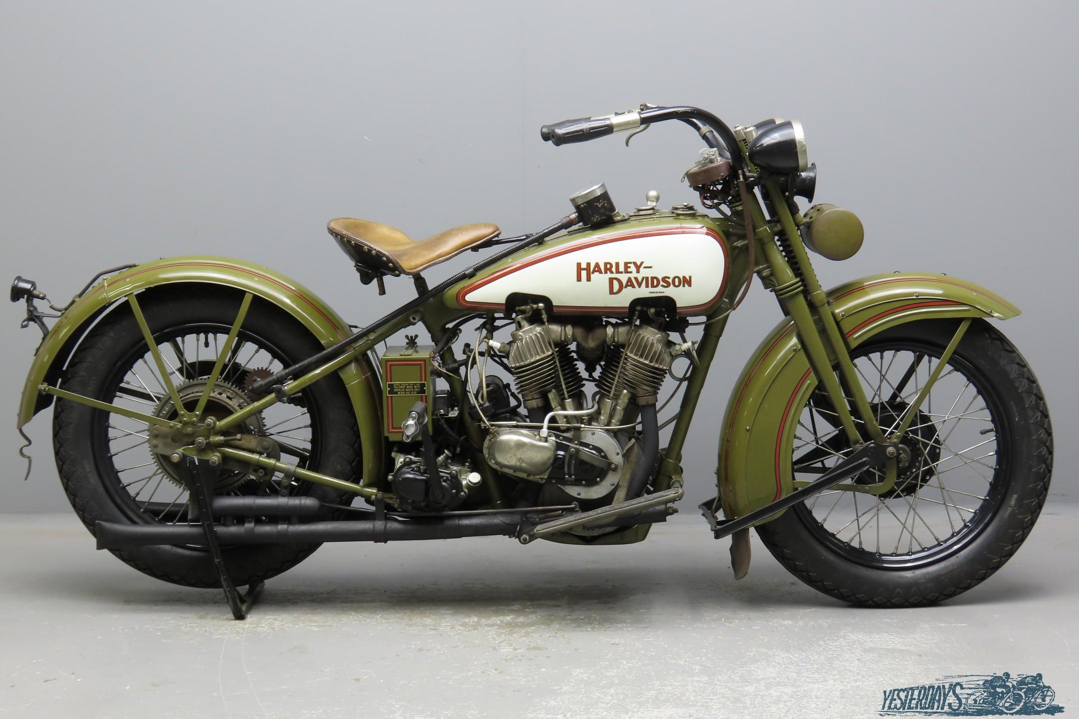 Harley Davidson 1929 JD 1212cc 2 cyl ioe  3007