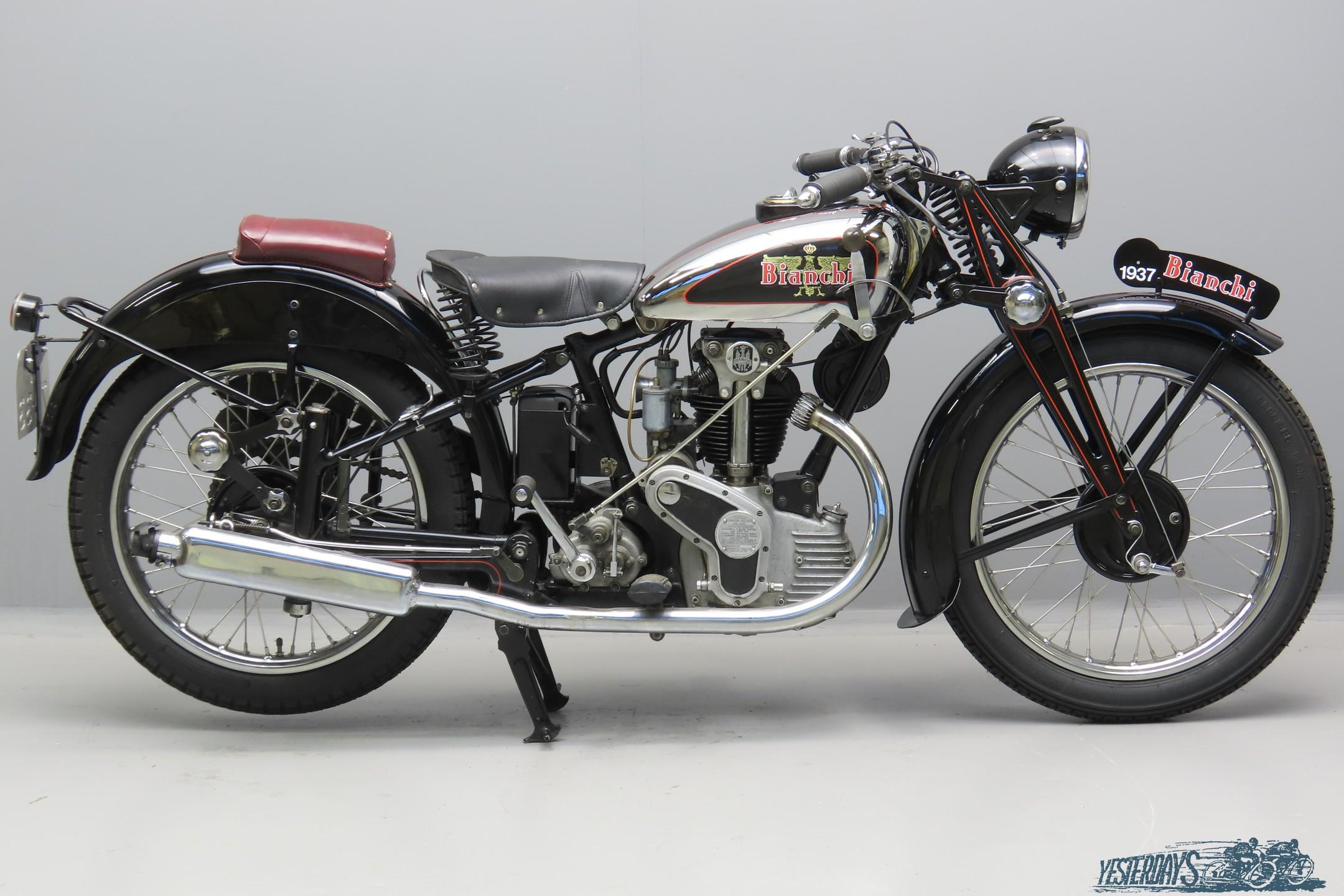 """Bianchi 1937 """"Frecchia d'oro Normale"""" 248cc 1 cyl ohv  3007"""