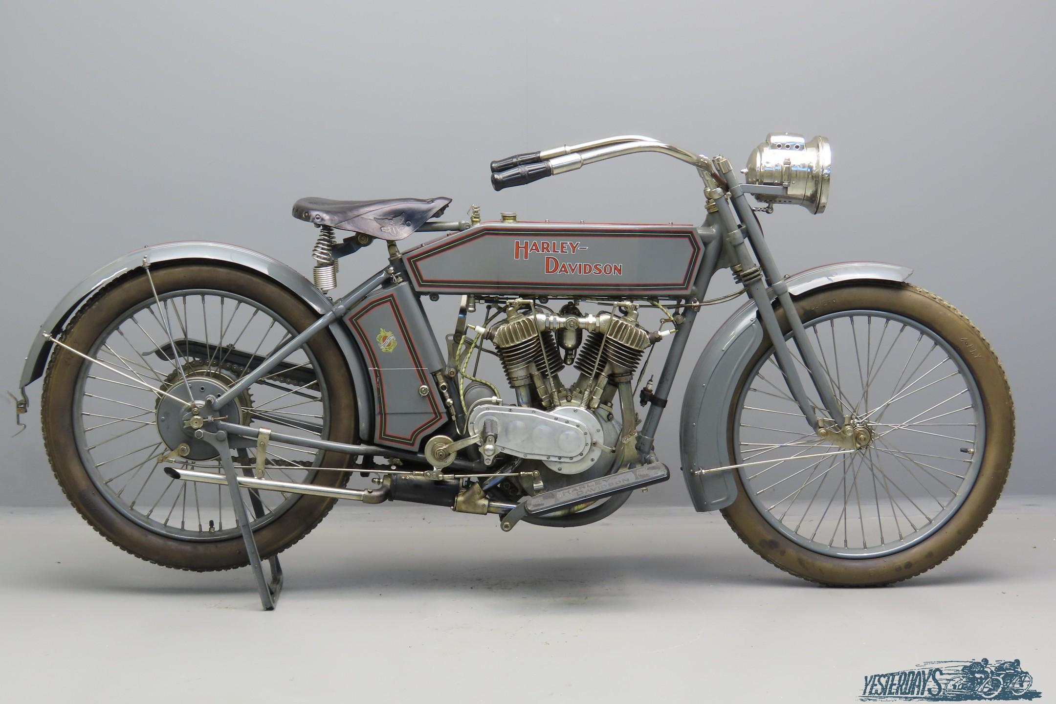 Harley Davidson 1914 Model 10E 1000cc 2 cyl ioe  3009