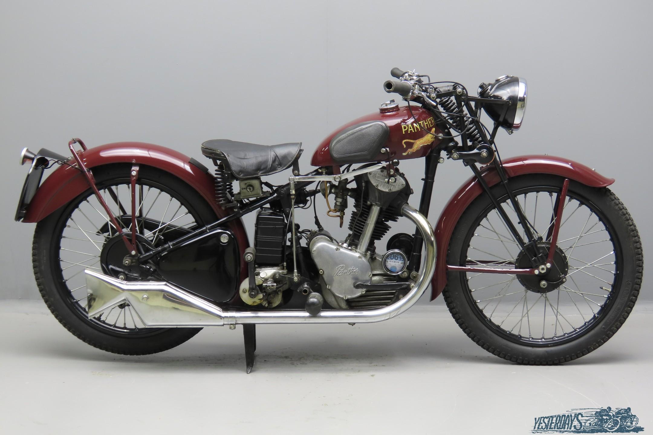 Panther 1938 Model 20 249cc 1 cyl ohv  3009