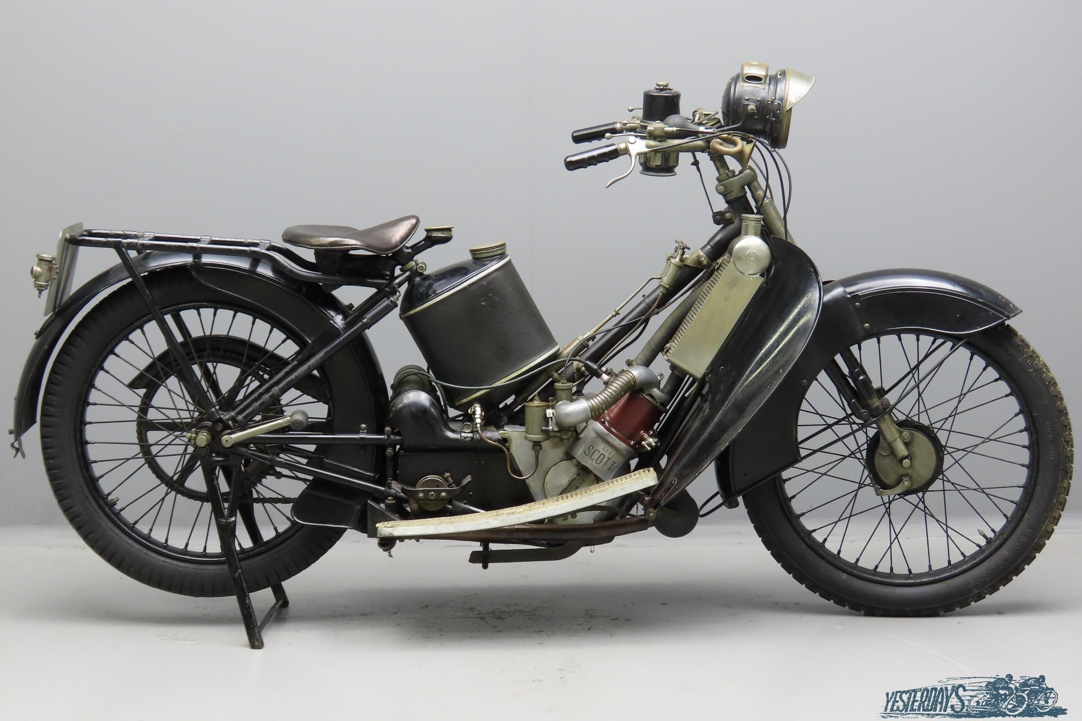 Scott 1923 3¾hp Standard Model 532cc 2 cyl ts  3009